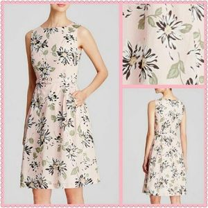 Anne Klein Vintage Daisy Print A-Line Dress Sz 4